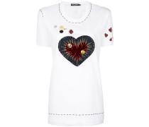 appliqué detail T-shirt