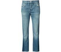 - Cropped-Jeans mit Einsätzen - women - Baumwolle