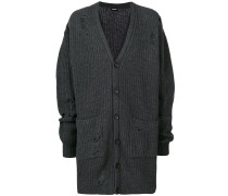 Oversized-Cardigan in Distressed-Optik