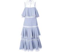 halterneck tiered dress