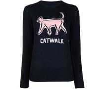 Mia Pullover mit Katzen-Intarsie