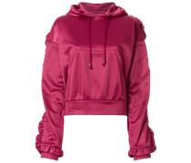 ruched sleeves hoodie