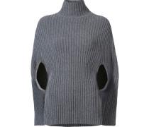 Gerippter Pullover im Cape-Look