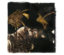 Bengal cat print scarf