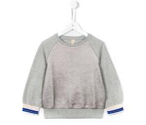 Sweatshirt mit Metallic-Einsätzen