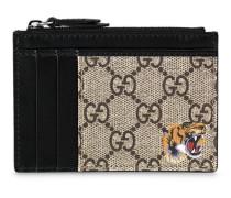 Tiger-print GG Supreme cardholder