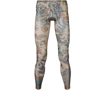 Leggings mit Tattoo-Print
