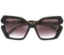 Sonnenbrille mit geometrischem Muster