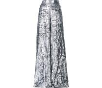 Palazzohose im Metallic-Look