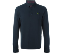 embroidered longsleeved polo shirt