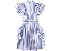 Gestreiftes Kleid mit Volants
