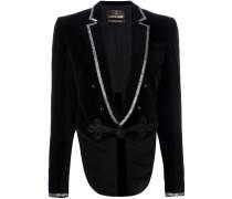 cropped metallic trim jacket