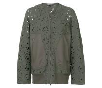 perforated bomber jacket