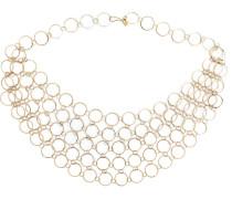 Halskette aus 14kt Gelbgold mit runden Gliedern