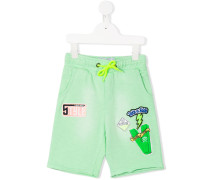 multi patch shorts