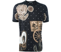T-Shirt mit Western-Print
