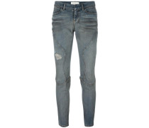 Klassische Cropped-Skinny-Jeans