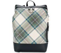 tartan box backpack
