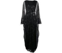 Langes Metallic-Kleid