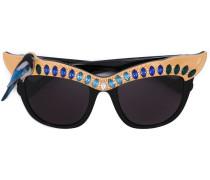 24kt vergoldete 'Magpie' Sonnenbrille - women