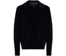 Sweatshirt mit offenem Kragen