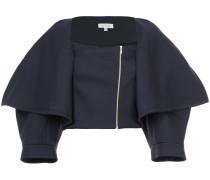 Cropped-Jacke mit Oversized-Revers