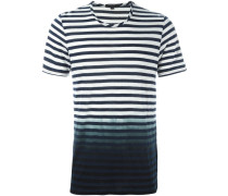 Gestreiftes T-Shirt mit Farbverlauf