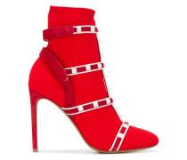 Garavani Rockstud Bodytech knit ankle boots