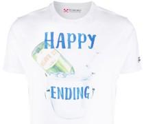"T-Shirt mit ""Happy Ending""-Print"