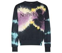 No Problemo Sweatshirt mit Batikmuster