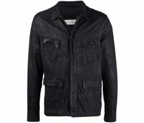 Jacke aus gebürstetem Leder