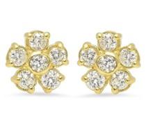 18kt Gelbgoldohrringe mit Diamanten