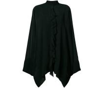 ruffled detail sheer blouse