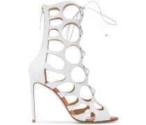 cut-out detail zip sandals