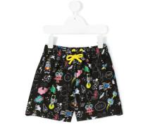 - robot print swim shorts - kids - Polyester - 10