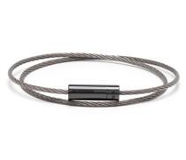 7g polished double cable bracelet