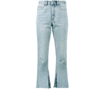skinny kickn mid-rise cropped jeans