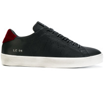 Velluton lace up sneakers