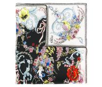 Seidentuch mit floralem Print