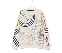 Sweatshirt mit Kaktus-Print