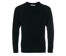 Pullover mit geripptem Rundhalsausschnitt
