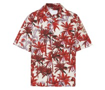 palm tree-printed shirt