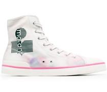 High-Top-Sneakers im Patchwork-Look