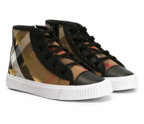 Karierte High-Top-Sneakers - kids