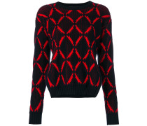 diamond print jumper