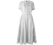 Semi-transparentes Kleid mit Gürtel - women