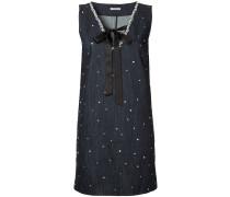 crystal-embellished denim dress