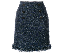 fringed bouclé skirt