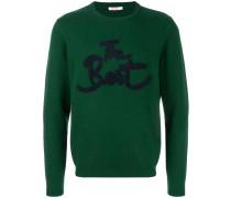 'The Best' Sweatshirt mit Stickerei