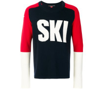 Ski colour block jumper